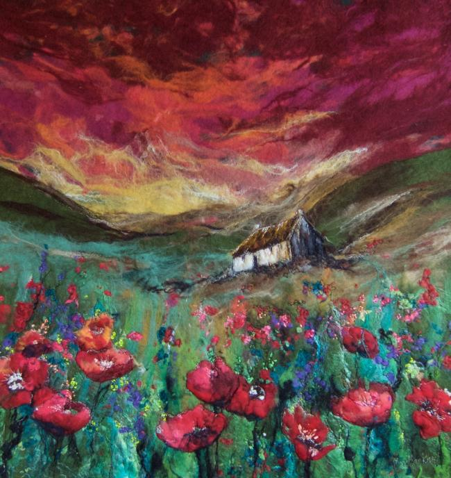 Moy Mackay is a leader in the genre of landscape paining using felt