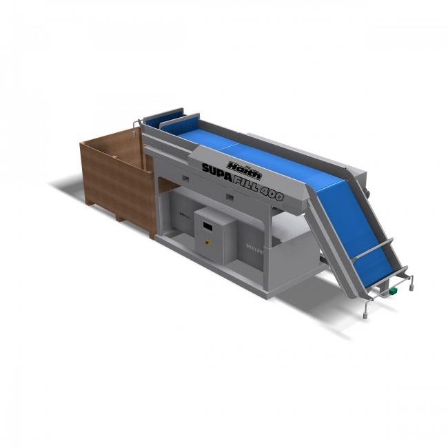 A CAD view of the new Supa-Fill 400 Pro box filler from Haith