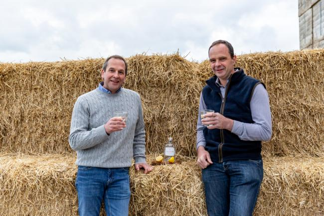 Turriff Show officials, president Graeme Mackie and junior president, Kevin Gray, celebrate the fact that show is investing £70,000 in a new food and drink pavilion