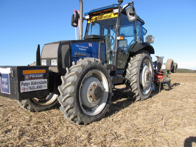 Peter Alderslade is the current British ploughing champion in the reversible class