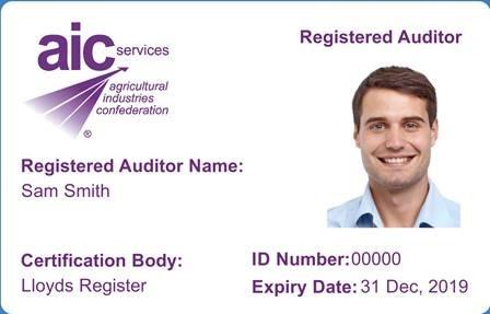 The new ID cards will help auditors checking on AIC assurance schemes