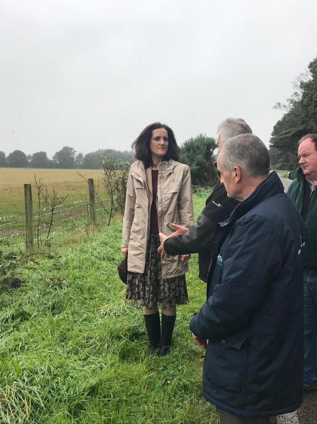 Defra secretary Theresa Villiers met with NFUS officials during her first official meeting in Moray
