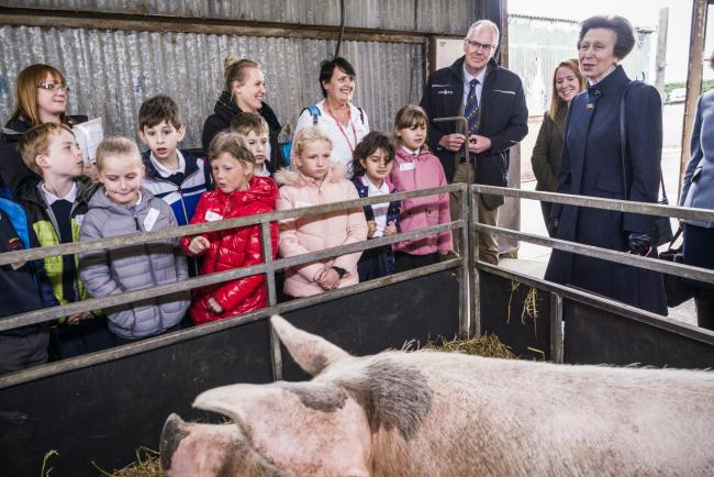 RHET has received a visit from its patron, Her Royal Highness Princess Anne, to mark 20 years of charitable efforts educating school children on the importance of food and farming production. HRH joined a class of 30 primary five pupils from Queensferry P