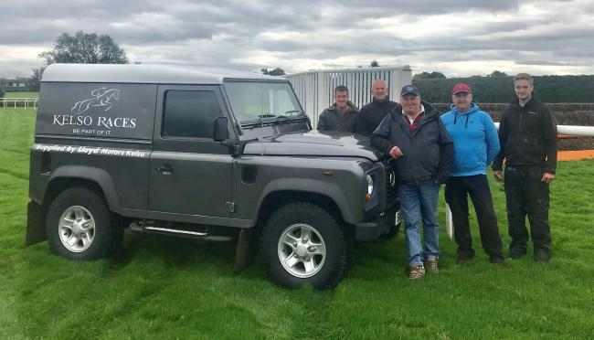 The award-winning team of groundsmen at Kelso Race Course
