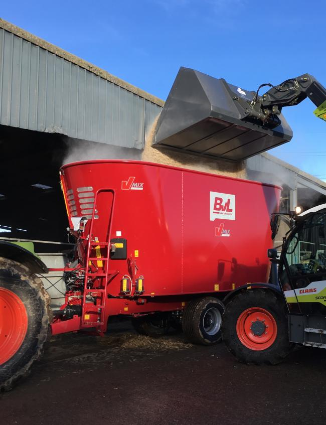 The BvL twin auger, single axle model of diet feeder which will feature at AgriScot
