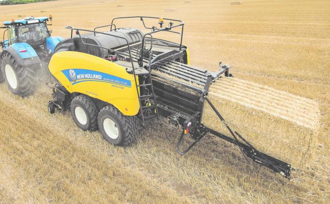 One of New Holland's 1290-Plus balers which features the new LoopMaster 'clean' knotter