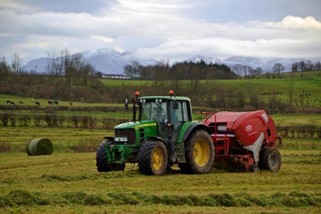 Farming silage on the Isle of Bute