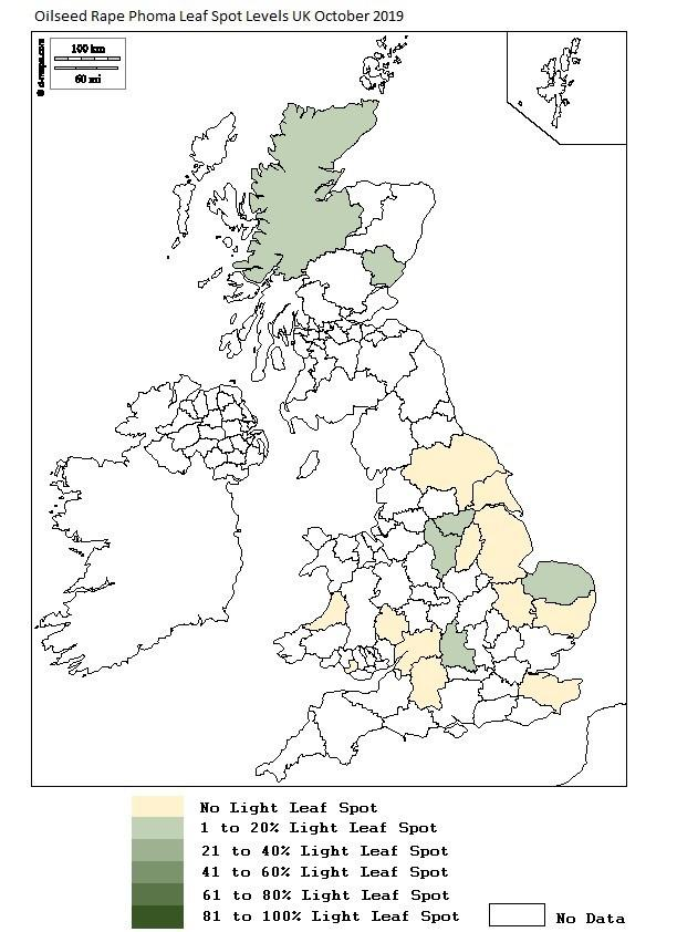 Light leef spot infection is already quite widespread in parts of Scotland (Source: ADAS)