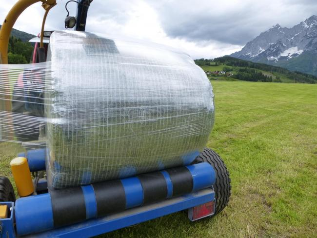 The future's clear for big bale silage wrap says the manufacturer of this Agri-Crystal wrap