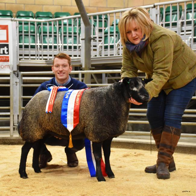 Dumfries-shire breeder Colin Rae bought the Blue Texel champion at 700gns from Heather McCurdie