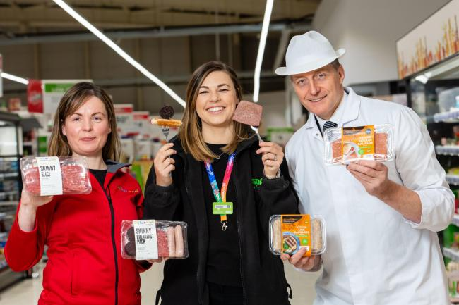 New supply contracts for We Hae Meat pictured from left with Carlyn Patton, We Hae Meat; Heather Turnbull, Asda, and Simon Howie