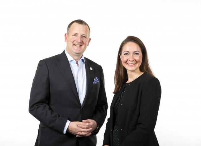 DAWN MEATS chief executive Niall Browne and sustainability chief Gill Higgins