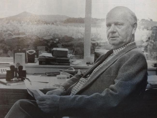 Former chairman of the RHAS, Jack Sleigh, at home in 1991 after taking up the reins of office