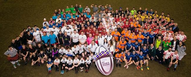 An impressive collection of all the teams that entered the Fields of Dreams tartan touch rugby tournament at Morris Equestrian Centre, last week. Organiser Stuart Muirhead was delighted with the turnout with more than 1200 people turning up for a day of r