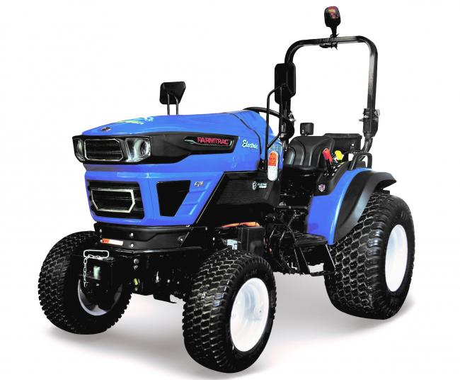 All electric the new of Farmtrac's FT25G electric model, featuring lithium-ion battery technology