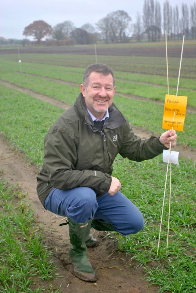 Where winter cereal seed is over-yeared until next autumn, consider drilling this first, suggests ProCam seed manager, Lee Harker