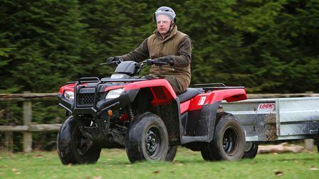 It's important to dress properly for safety when using an ATV. That includes appropriate helmets, goggles and foot wear
