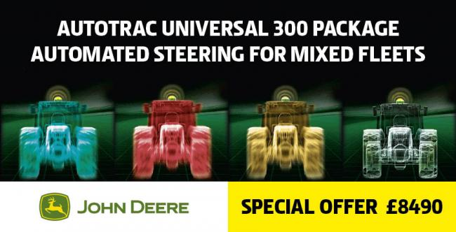 Automated Steering for Mixed fleets with John Deere AutoTrac Univeral 300