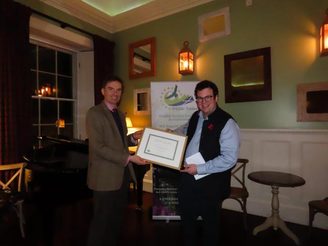 ARTHUR SWEERTS receives his WES accreditation from SLE's David Johnstone