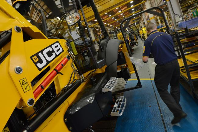 Work has been suspended in JCB's English plants