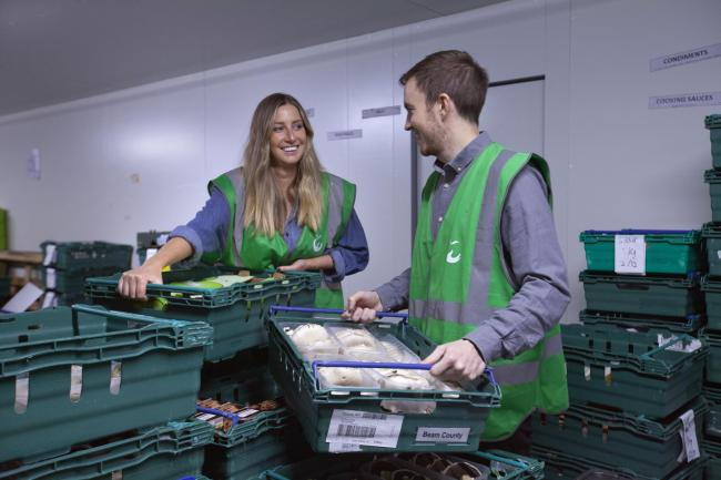 FareShare staff sort donated items