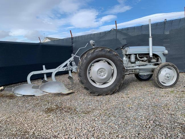 Wee Grey Fergie with plough sold for more than £3000 which with an anonymous donation saw some £6150 donated to the My Name'5 Doddie Foundation