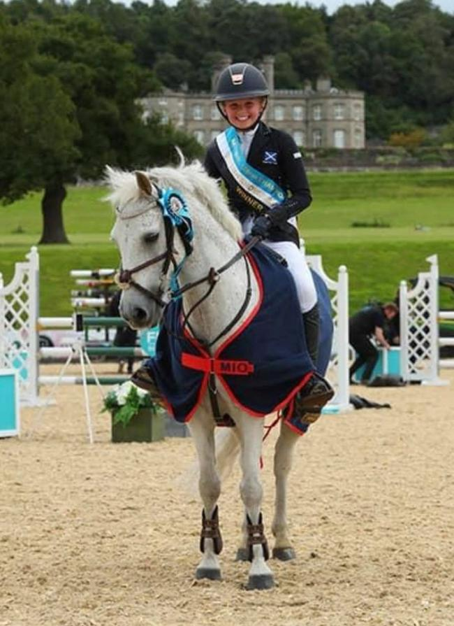 Eleanor Archibald pictured after her show jumping success in the National 128cm class