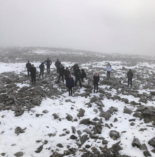 The snowy summit of Ben Nevis was a welcome sight for members of Bathgate and District JAC after a challenging but rewarding charity climb