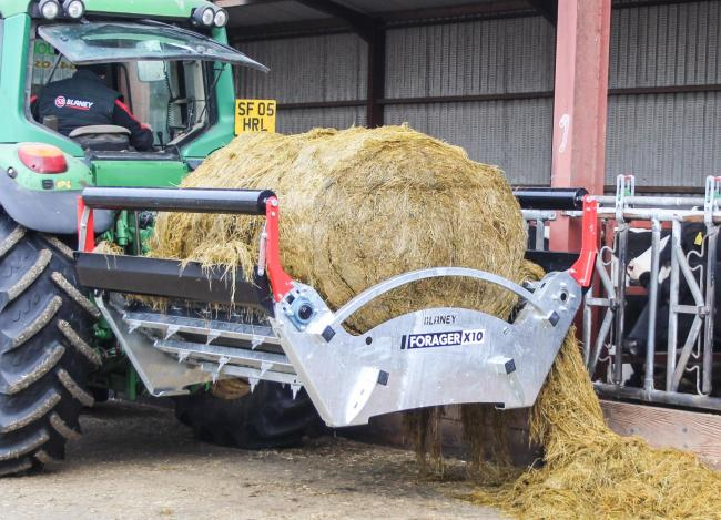 Blaney's big bale feeder, the Forager X10 is simple, but effective