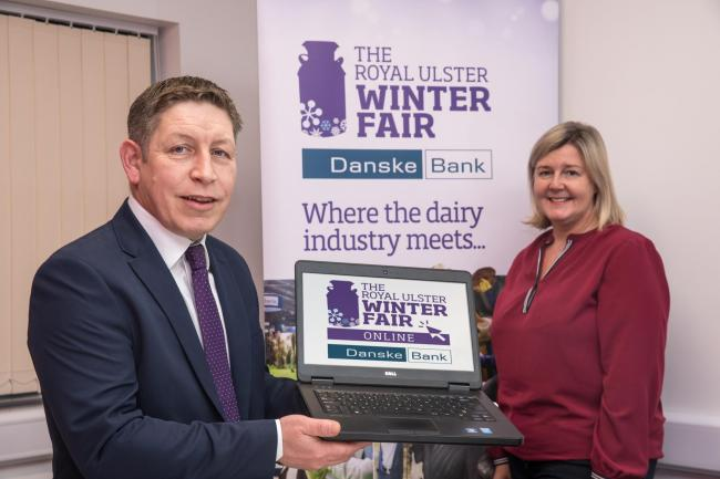 LAUNCHING the Winter Fair online, Rodney Brown of Danske Bank and Rhonda Geary of RUAS at Balmoral Park