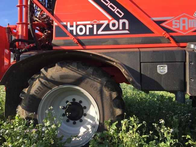 The new Continental VF tyres on the SAM Sprayer