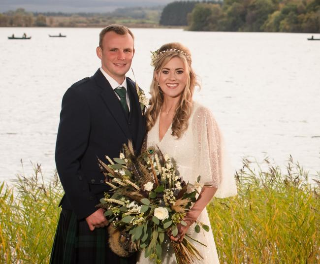 Beating the lockdown blues were Jennie Baillie, of Over Dalserf Farm, Larkhall, when she married Kyle Campbell, of Claylands Farm, Kippen, at the Lake of Menteith Hotel in early October