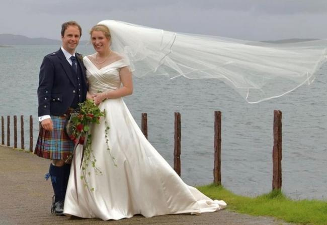In mid-September, Rowena Campbell, Aird Farm, Ardfern, and Jamie McAndrew, Kames Fish Farming, were married at Aird Farm with immediate family after postponing from the original date in July