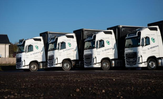 The Scottish Farmer: the fleet are made up of the Volvo FH range with sleeper cabs tractor units Ref:RH281120123 Rob Haining / The Scottish Farmer...