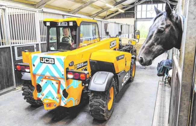 With two electric motors, the E-Tech JCB Loadall is ideal for working in confined spaces and is rated at 2.8-tonnes for close in work