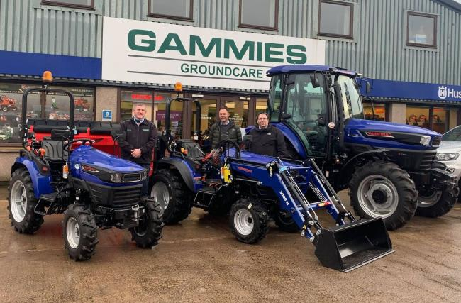 The team at Gammies are all geared up to welcome the Farmtrac branded tractors to their Forfar depot