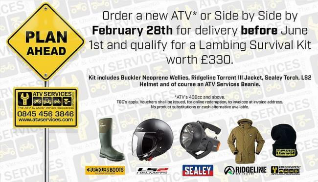 Looks like a great deal from ATV Services
