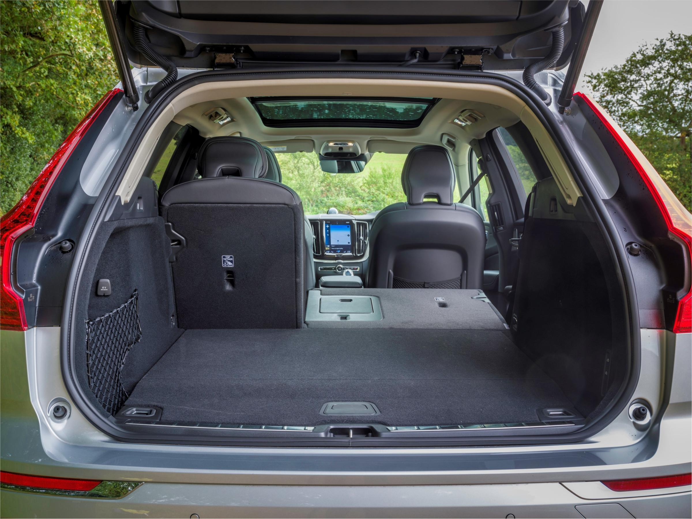 The rear luggage area in the Volvo XC60 can swallow a lot of gear, especially when the split-fold rear seats are deployed
