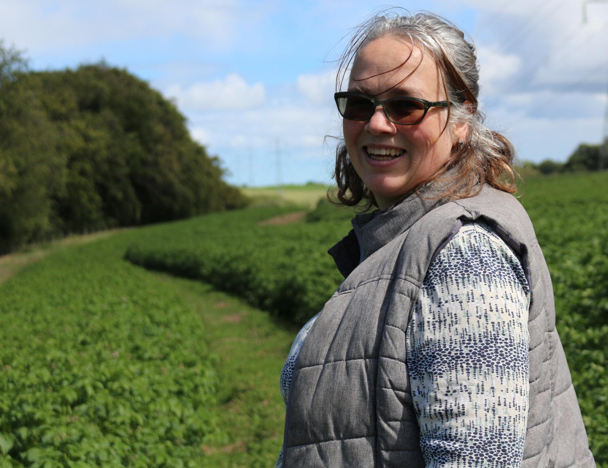Field of dreams! Amy Skea and her family are at the forefront of keeping heritage and specialist potato varieties alive as well as supplying mainstream organic spud growers