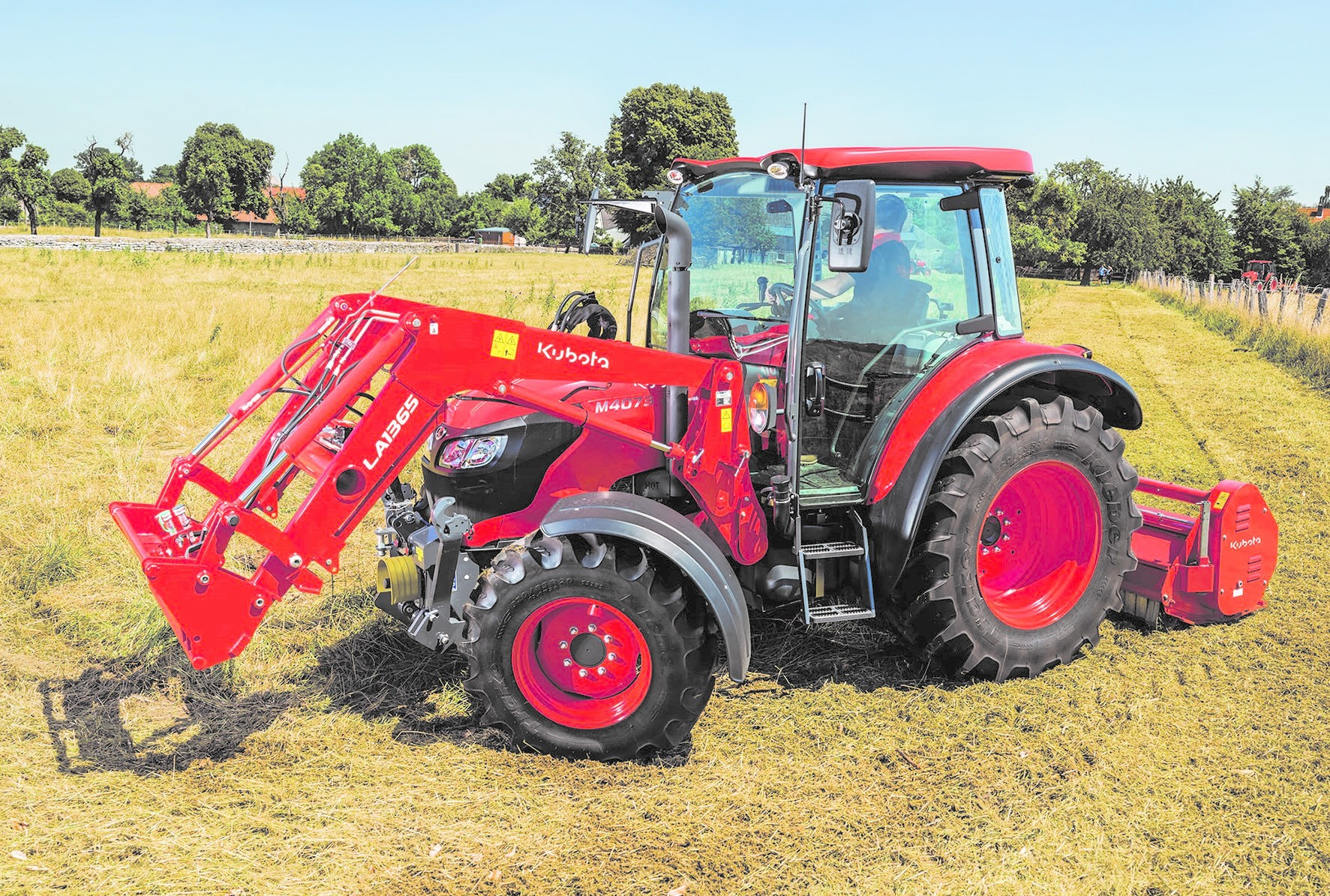 An ideal loader tractor, the Kubota M4073 can also handle light arable work