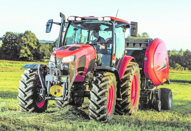 The smart-looking Kubota M5112 is a real workhorse suited to mixed farming enterprises