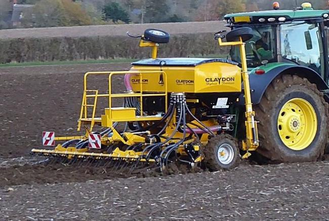 The latest mounted version of the split-hopper Hybrid drill from Claydon