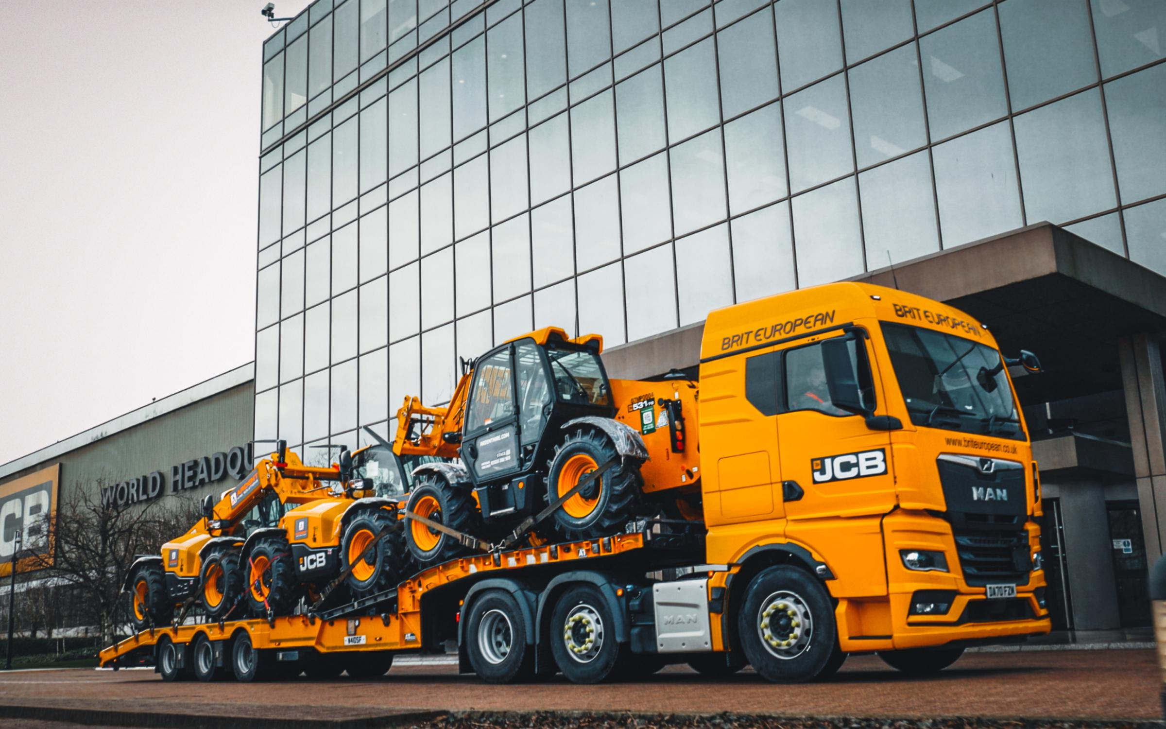 Ready for shipment - UK hirer, Ardent, has placed a £26m order for JCB machines