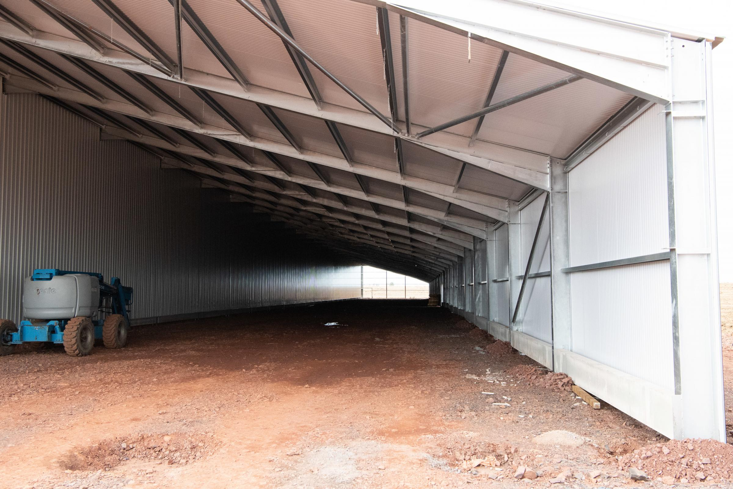 The new poultry unit is currently under construction Ref:RH210321154 Rob Haining / The Scottish Farmer...