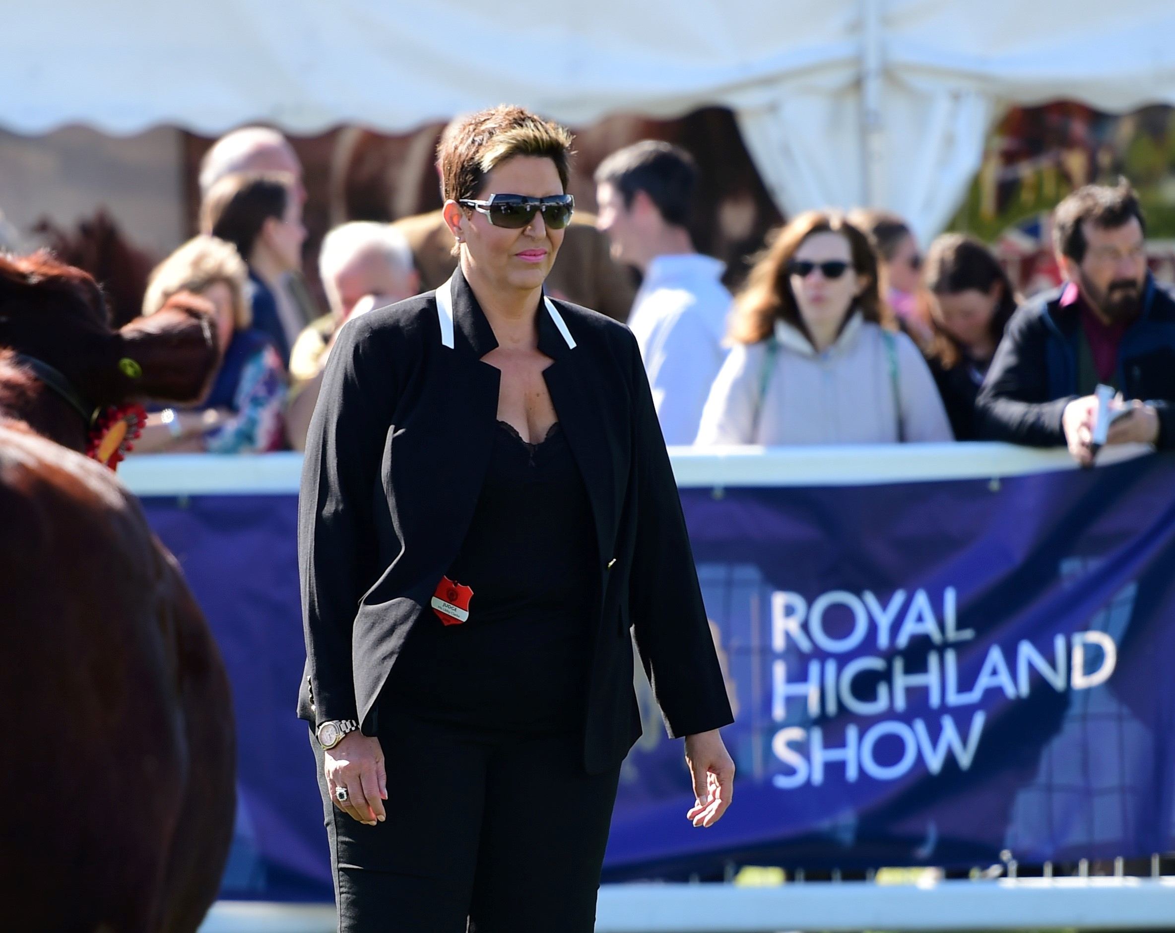 Libby Clarke judging at the Royal Highland Show