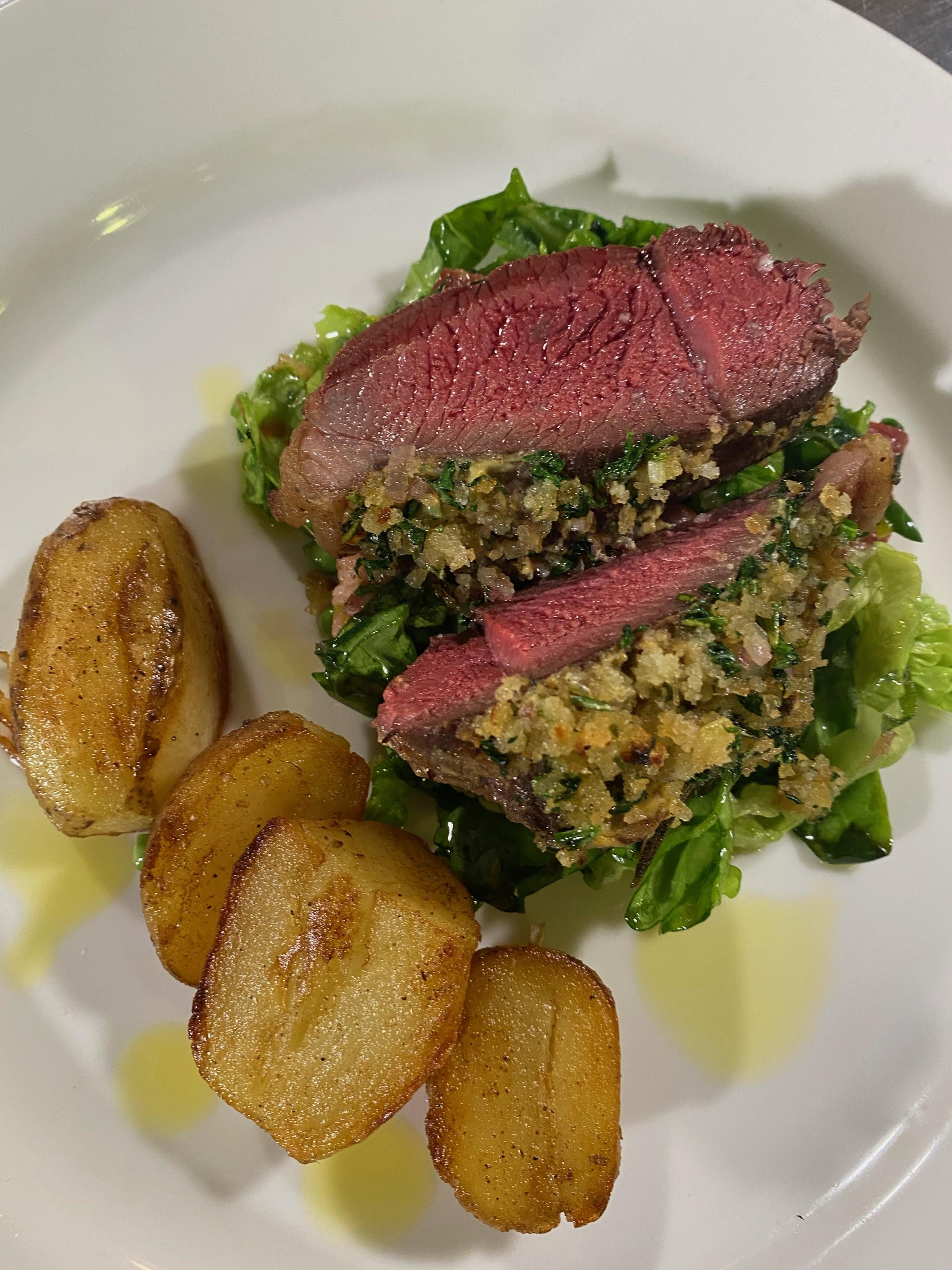 Neils dish features North Ronaldsay mutton ... looks like a real treat