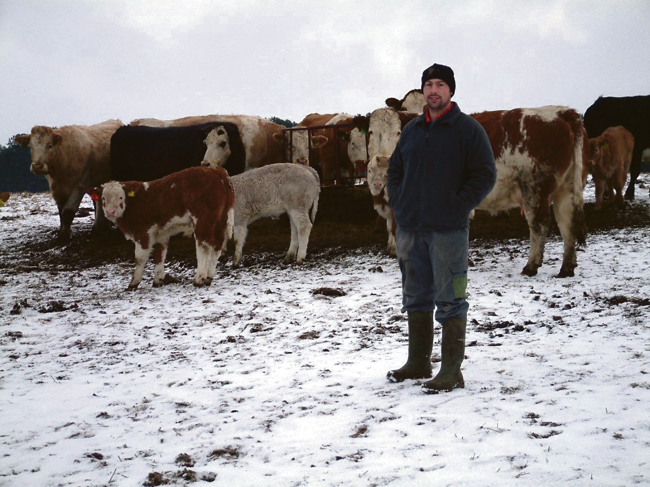 Tightening calving patterns has helped fit in two calving periods with a busy contracting schedule, says William Deans