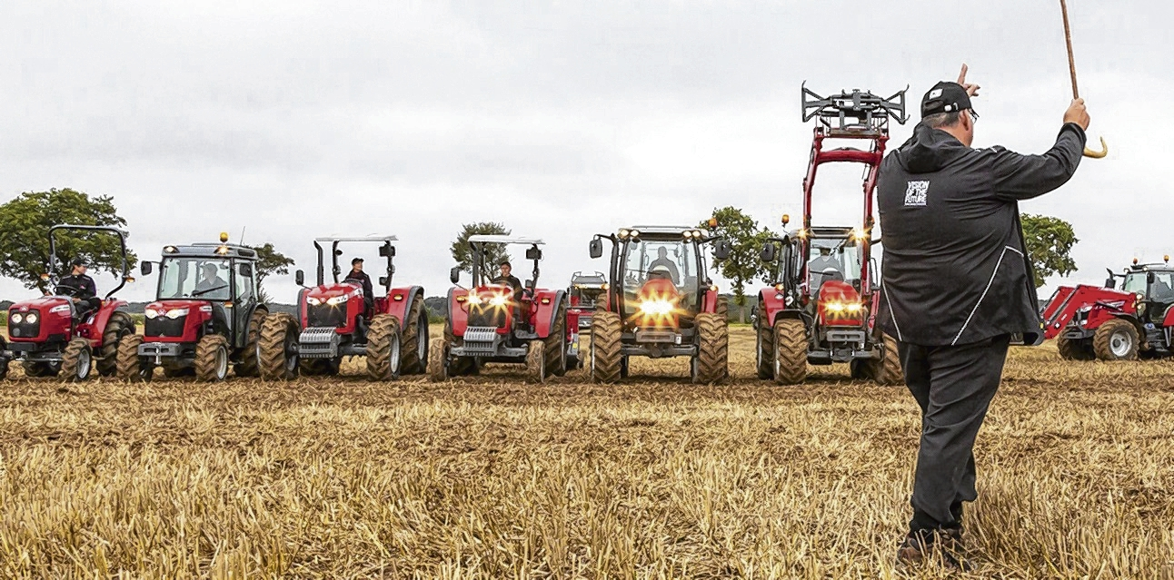 SCOTS MF specialist Cameron Scott directs the traffic for the brand's new global tractor line-up