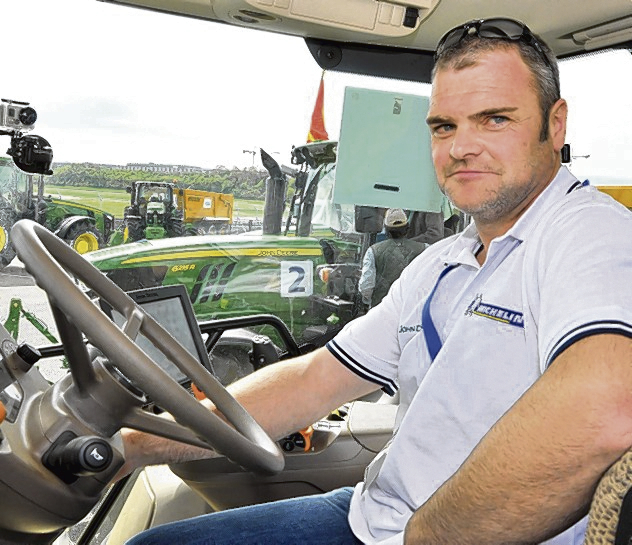 Dumfries-shire contractor Simon Richardson, who finished second in the John Deere/Michelin European Drivers Championship in France