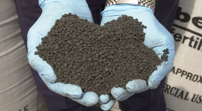Biosolids - a source of organic matter, phosphate and other important nutrients